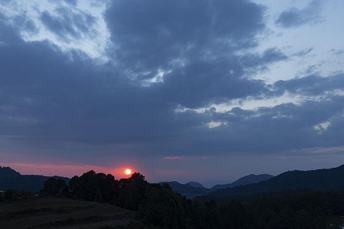 A sunset in Macheros, Mexico, as seen from JM's Butterfly B&B.